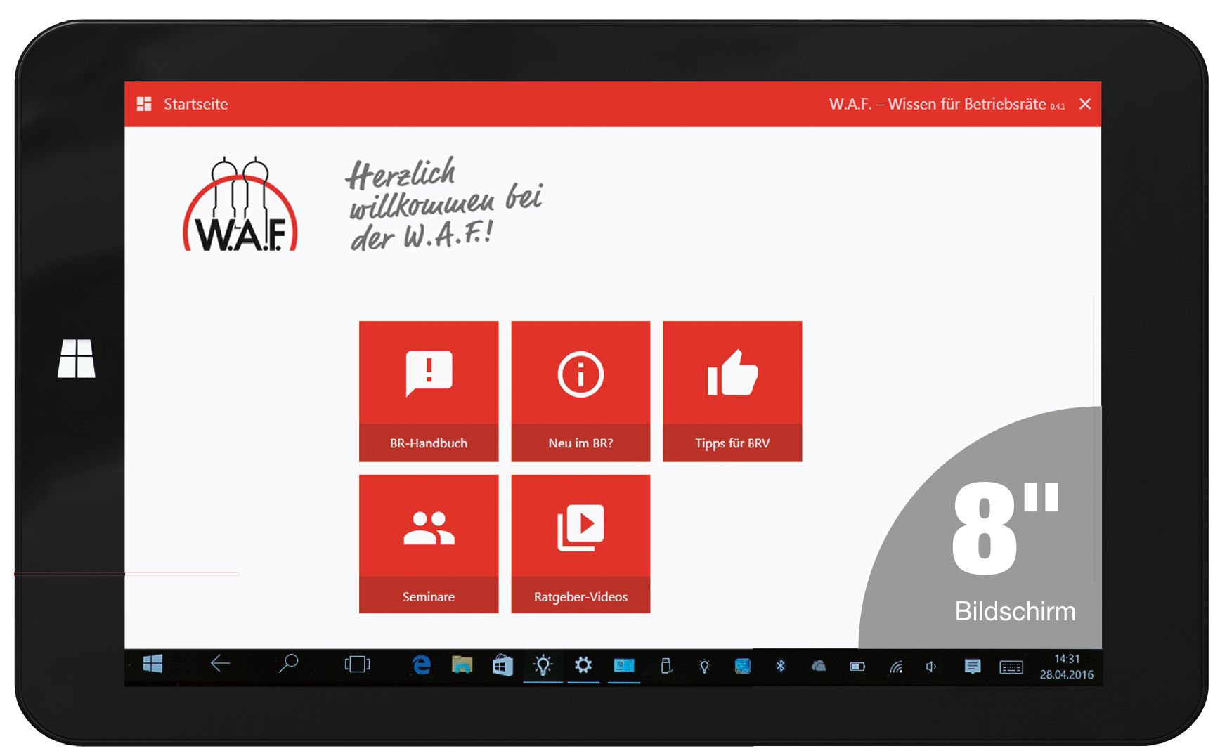 Tablet für Betriebsräte - Windows